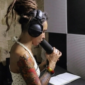 Recording vocals for Jinjer new single