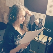 Irina Makukha recording session vocals for Scarleth